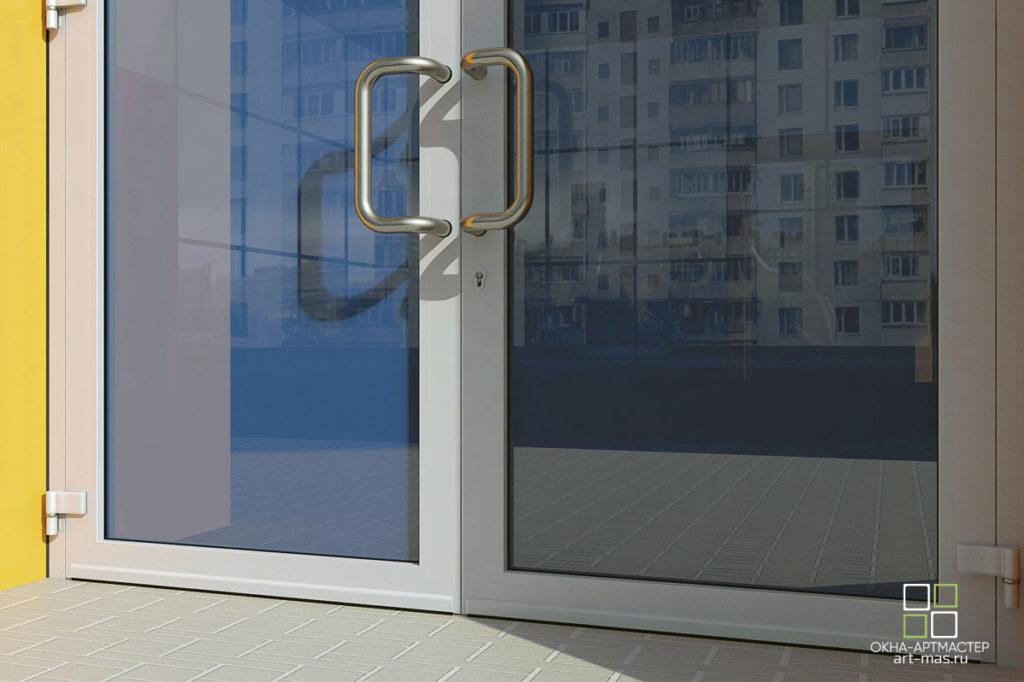 Реализованные проекты. Дверь входная со стеклом.