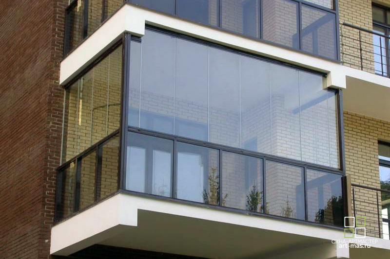 Остекление коттеджей. Остекление балкона